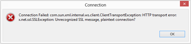 Unrecognized SSL Message