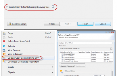 Upload files and metadata from file system to SharePoint using Excel or CSV spre